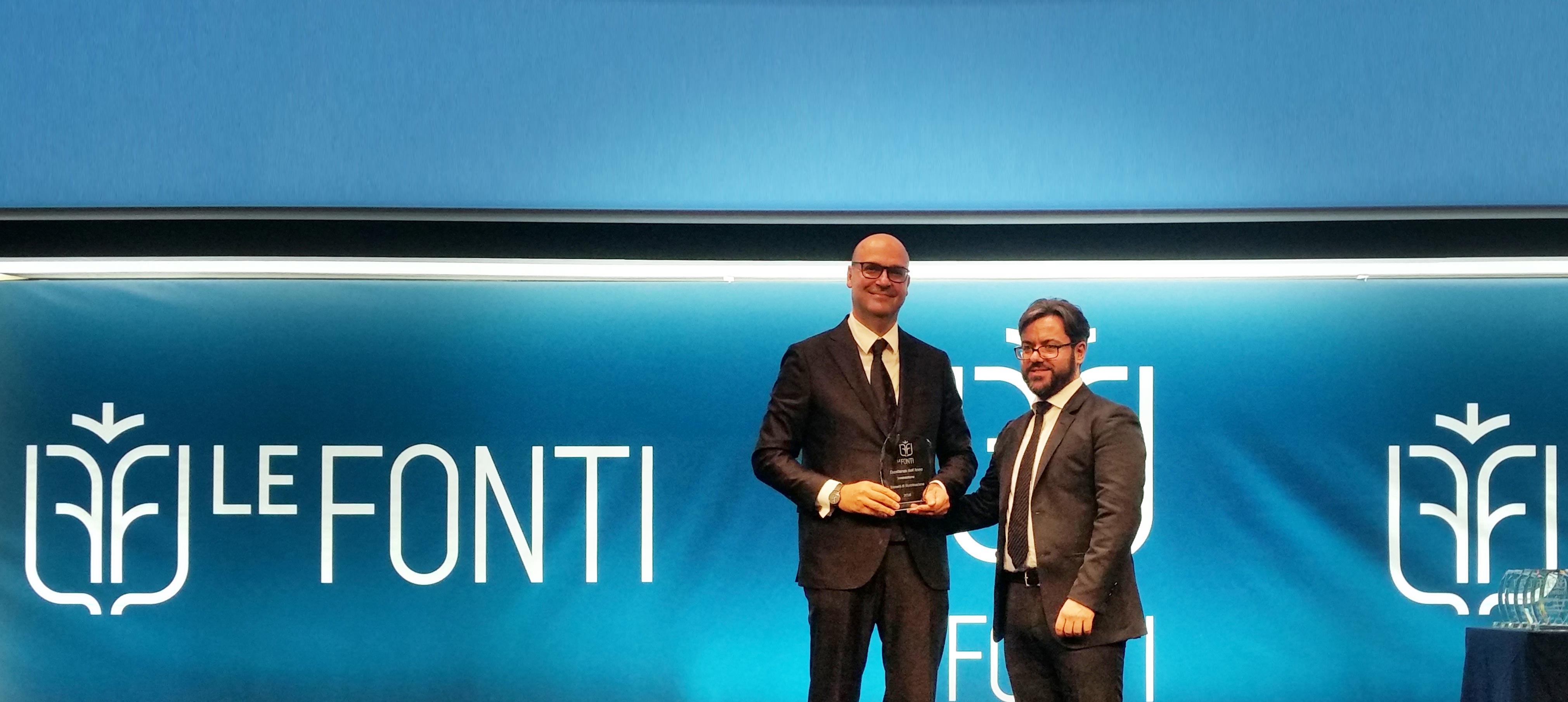 Amministratore delegato iGuzzini ritira premio
