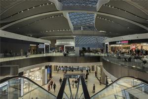 Das neue Terminal E des Flughafens Leonardo da Vinci